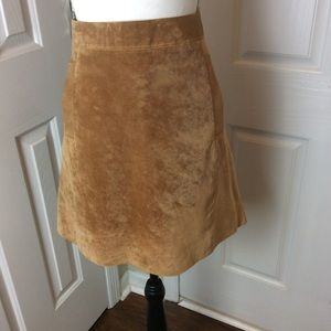 Kut from the cloth leather suede skirt